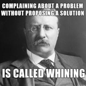 whining